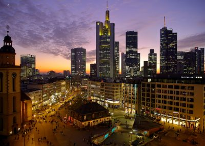 Silhouettenskyline Frankfurt