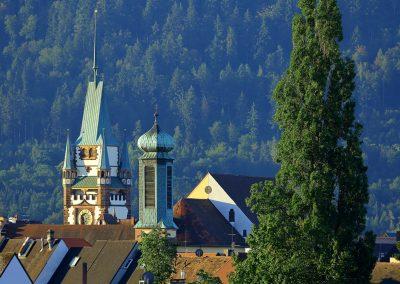 Türme und Türmchen in Freiburg