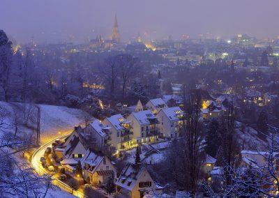 Freiburg mit Puderzucker
